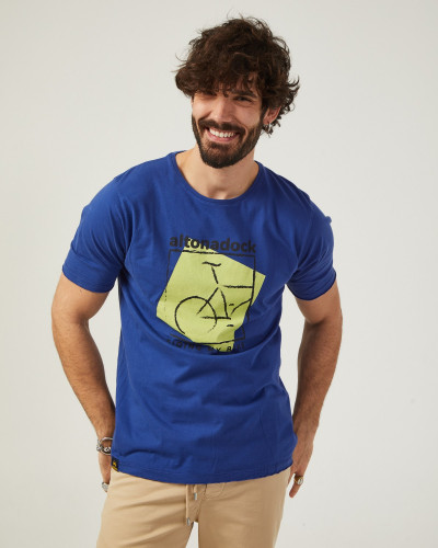 Camiseta de color azul