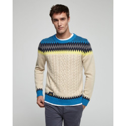 Round-neck pullover with...
