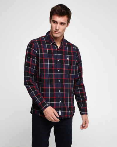 Checked slim shirt