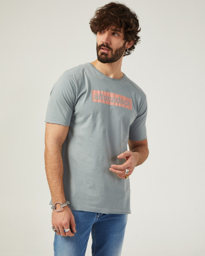 Men's gray t-shirt with...