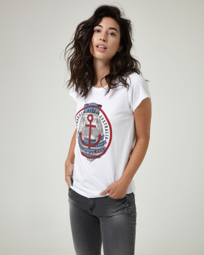 White T-shirt with...