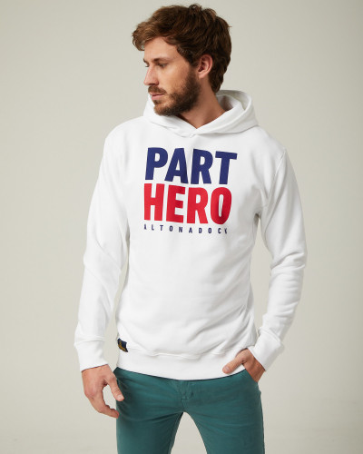 "White sweatshirt ""Part Hero"""