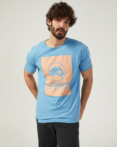 Men's blue t-shirt with...