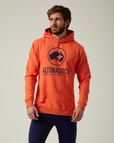 Sweatshirt logo orange bleu...