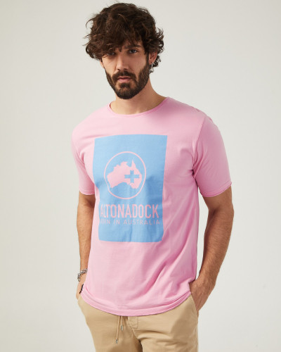 Men's pink t-shirt with...
