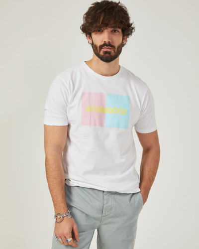 Men's white t-shirt with...