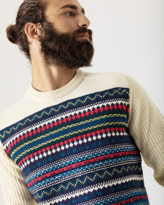 Chunky knit pullover with ribbed knitted jumper