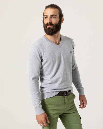 Fine knit pullover basic pullover