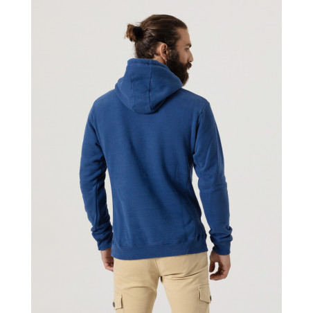Hooded sweatshirt with drawstrings and front print