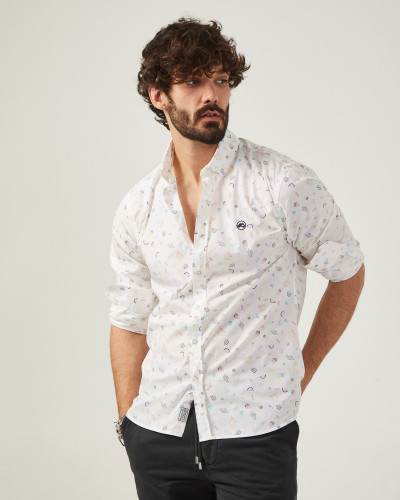 Men's slim fit white shirt...