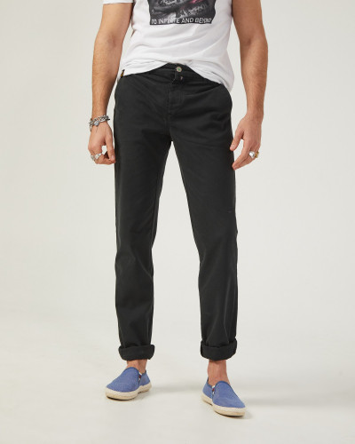 Black slim cut men's Chinese
