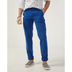 Chinese men's slim fit blue