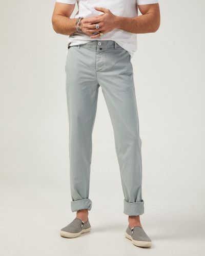 Slim fit chino trousers in...