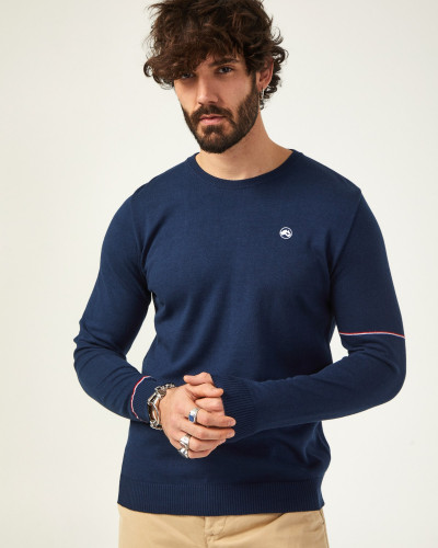Basic men's navy blue sweater