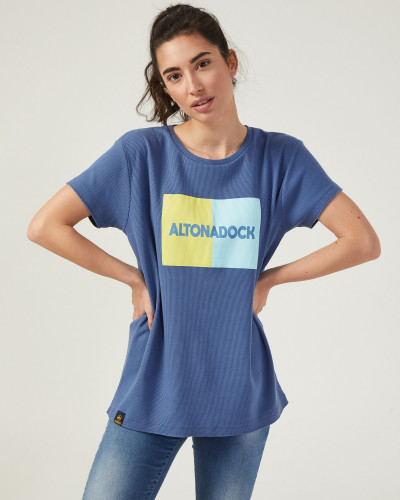 Women's blue t-shirt with...