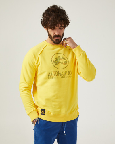 Men's yellow sweatshirt...