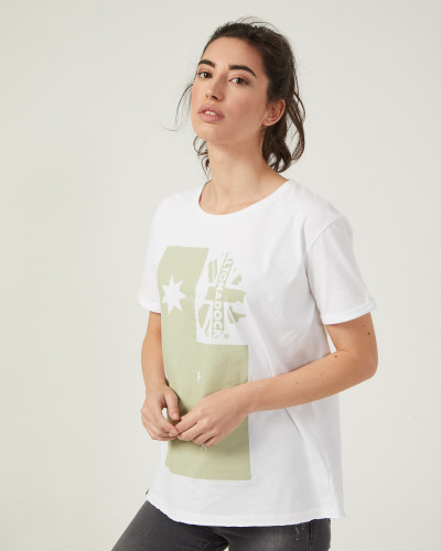 Women's white t-shirt with...