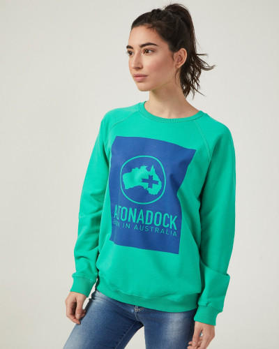 Women's green sweatshirt...