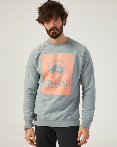 Men's gray sweatshirt with...