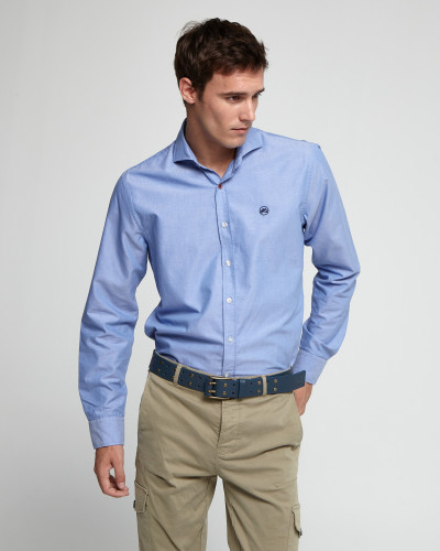 Blue slim shirt