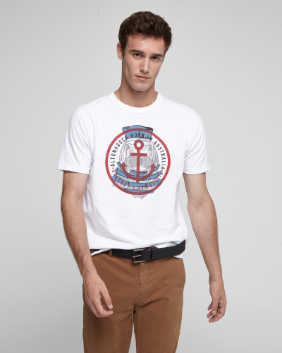 White T-shirt with frontal...
