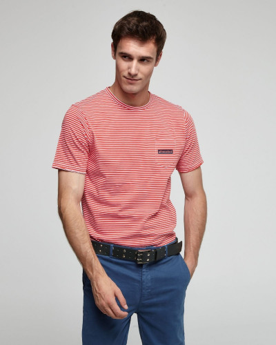 Striped T-shirt with pocket