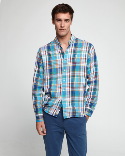 Checkered slim shirt