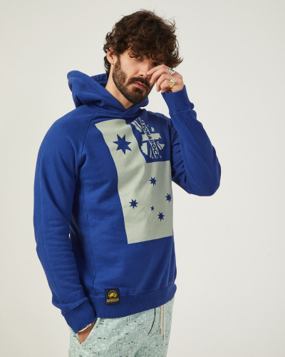 Men's blue hooded...