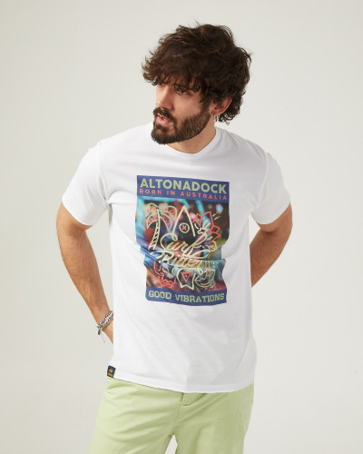 Camiseta de color blanco