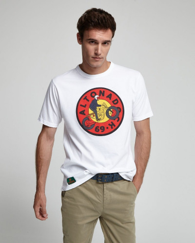 T-shirt with frontal drawing